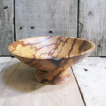 Exotic Wood Bowl  Hand Turned  Marblewood Dish  Contemporary Design  Home Decor Accent  Key Coin Bowl  Desk Organization  Gifts Under 50