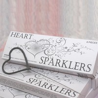 Exclusively Weddings | Heart Shaped Sparklers