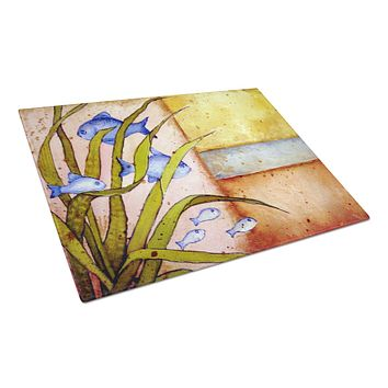 Message From The Sea Fishes Glass Cutting Board Large PJC1118LCB