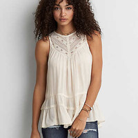 AEO Lace Neck Cami , Cream