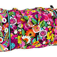 Vera Bradley Vava Bloom Large Duffel Carry On Duffle Bag Tote Purse New