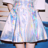 Iridescent High Waisted Skirt