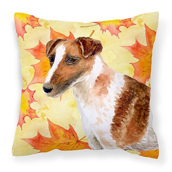 Smooth Fox Terrier Fall Fabric Decorative Pillow BB9908PW1818