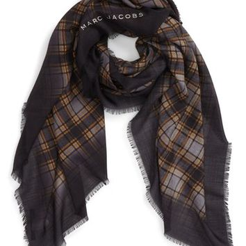 MARC JACOBS Blur Check Silk & Cashmere Scarf | Nordstrom
