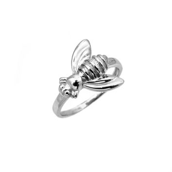 Sterling Silver Queen Bee Ring