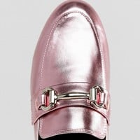 New Look Metallic T Bar Loafer at asos.com