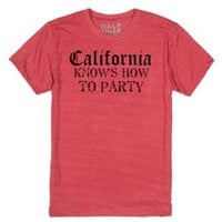 Cali knows how-Unisex Heather Red T-Shirt