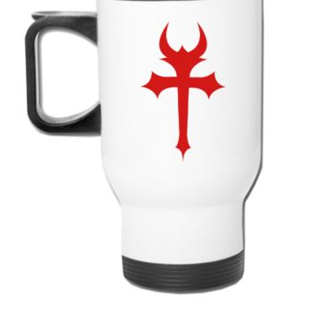 devil gothic cross - Travel Mug