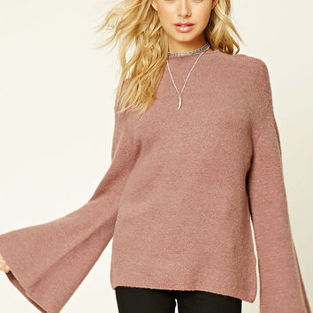 Brushed Mock Neck Sweater
