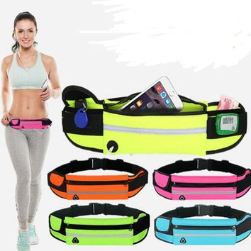 Sibaina Running Waist Pack Waterproof Belt Adjustable Bag Squishy Nylon Pouch Phone Cases for iPhone 7 6s 5S SE xiaomi redmi 3s