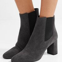 Saint Laurent - Loulou suede ankle boots