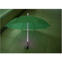 LED Light Umbrella - Green with White Lighted Rod