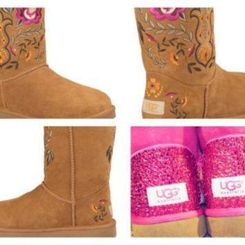 CREY1O Custom UGG Boots made with Swarovski Juliette UGGs Free: Shipping, Repair Kit, Cleanin