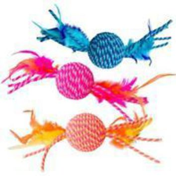 Ethical Cat - Elasteeez Ball/feathers Cat Toy