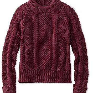 Women's Signature Cotton Fisherman Sweater | Free Shipping at L.L.Bean.