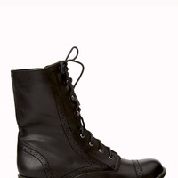 Fold-Over Camo Combat Boots