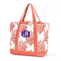 Monogrammed Reef Boat Tote | Marleylilly