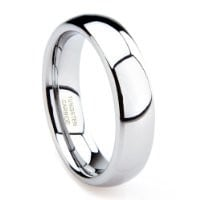 6MM Tungsten Men's Plain Dome Wedding Band Ring Sz 10.0