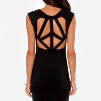 LULUS Exclusive Pretty Committee Backless Black Dress