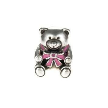 Authentic Pandora S925 Sterling Silver New Mom Its a Girl Bear Charm Bead w/ Box Free