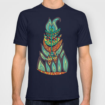 Tribal Feather T-shirt by Pom Graphic Design