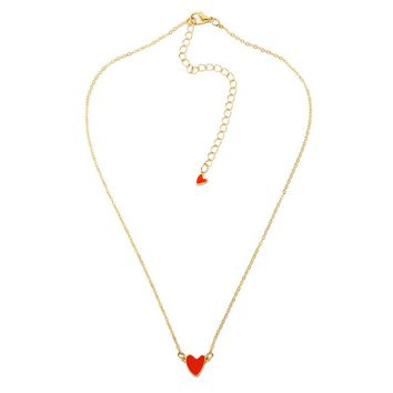 Iconic Red Heart Necklace