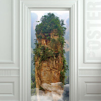 Door STICKER Avatar cinema film mountain rock mural decole film self-adhesive poster 30x79inch(77x200 cm)