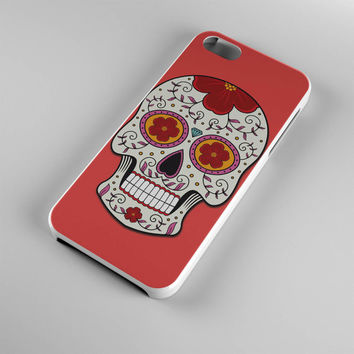 DS273-iPhone Case - Iphone 5 case-Iphone 5s case - Iphone 4 case - Iphone 4s case - Iphone Cover -Sugar Skull Red iPhone Case