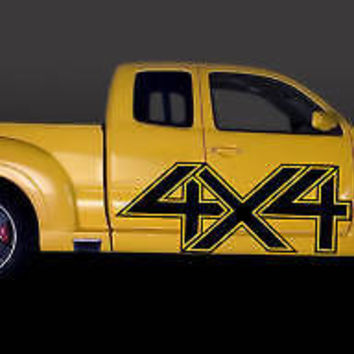 F150 TACOMA CHEVY 4X4 SIGN CAR VINYL SIDE GRAPHICS 094