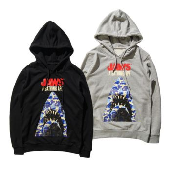 Jaws Shark Unisex Lover's Long  Sleeve Hoodies Sweater Pullovers