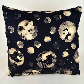 Many Moons by Ayn Hanna (Cotton & Linen Pillow) | Artful Home