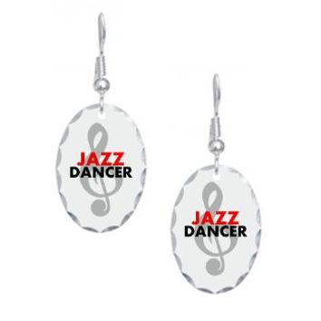 Jazz Dancer Earring Oval Charm