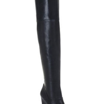 BCBG Gian Peep-Toe Wedge Tall Boot