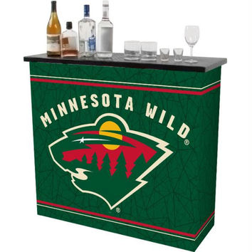NHL Minnesota Wild 2 Shelf Portable Bar w- Case