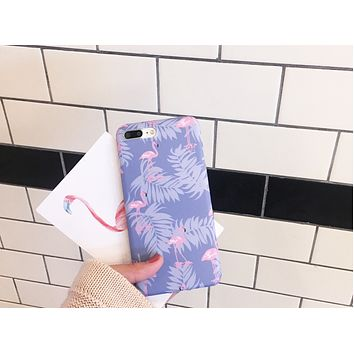 Fresh flamingo iphone 6s / 7 mobile phone case iphone6p / 7plus drop all-inclusive soft shell protective cover