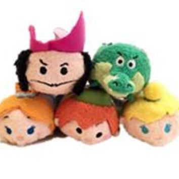 Original TSUM TSUM Peter Pan Tinker Bell Captain Hook Crocodile Mini Stuff Plush Toy Doll Birthday Gift Collection