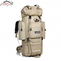 Big 85L Waterproof Backpack | Outdoor, Travel, Military, Climbing, Hiking, Camping | Molle Tactical Bag