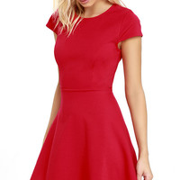 Proof of Perfection Red Skater Dress
