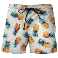 Pineapples + Crystals swim shorts