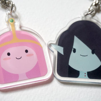 Adventure Time Marceline & Princess Bubblegum charms