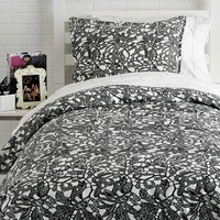 Downtown Lace Duvet Cover Set