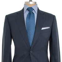 Belvest Navy with Dark and Light Blue Stripe Suit