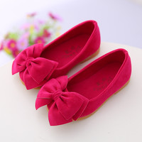 2016 spring autumn new children's casual shoes girls princess bow solid Peas shoes safty quality non-slip shoes for kids