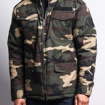 Heavy Twill Padded Military Jacket 8CJ01