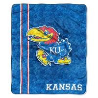 Kansas Jayhawks NCAA Sherpa Throw (Jersey Series) (50in x 60in)