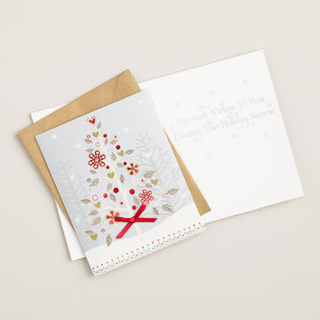 Snowy Haven Tree Boxed Holiday Cards,  Set of 15 - World Market