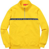 Supreme: World Famous Half Zip Sweat - Yellow