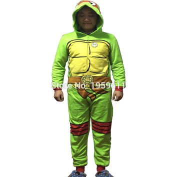 Teenage Mutant Ninja Turtles Furry  Pyjamas Onesuit Animal Onesuits Costume Hoodie Pajamas Sleepwear Unisex