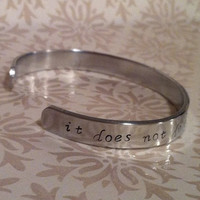Dwell on Dreams Harry Potter Hand Stamped Cuff by wintersmelody