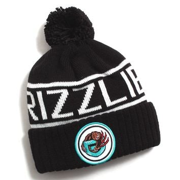 Vancouver Grizzlies Glow In The Dark Pom Beanie Black